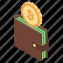 bitcoin wallet, coin wallet, digital money, digital wallet, virtual money icon