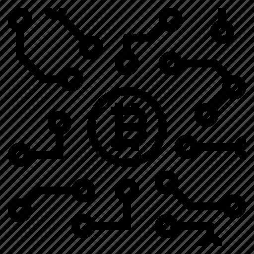blockchain, cryptocurrency icon