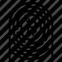 bitcoin, fingerprint, id icon