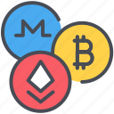 bitcoin, coin, cryptocurrency, digital, ethereum, exchange, trade