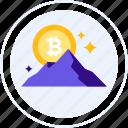 all time high, bitcoin, hill, mountain