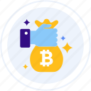bag, coins, holder, money bag icon