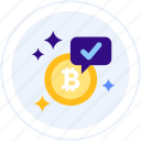 accepted, bitcoin, bitcoin payment, here, pay with bitcoin icon