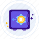 safe, bitcoin, storage, vault, safe box icon