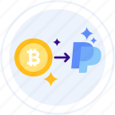 bitcoin, exchange, money, paypal, transfer icon