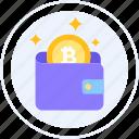 digital wallet, money, bitcoin, wallet, e wallet icon