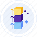 block, blocks, height icon