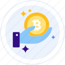 bitcoin, coin, creator, cryptocurrency, hand, hodl