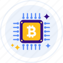 bitcoin, bitcoin mining, cpu, cryptocurrency, mining icon