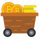 bitcoin, cryptocurrency, mine, mining icon