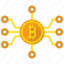 bitcoin, blockchain, mine icon