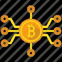 bitcoin, blockchain, mine icon