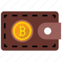 bitcoin, coin, purse, wallet icon