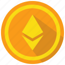 crypto, cryptocurrency, ethereum icon