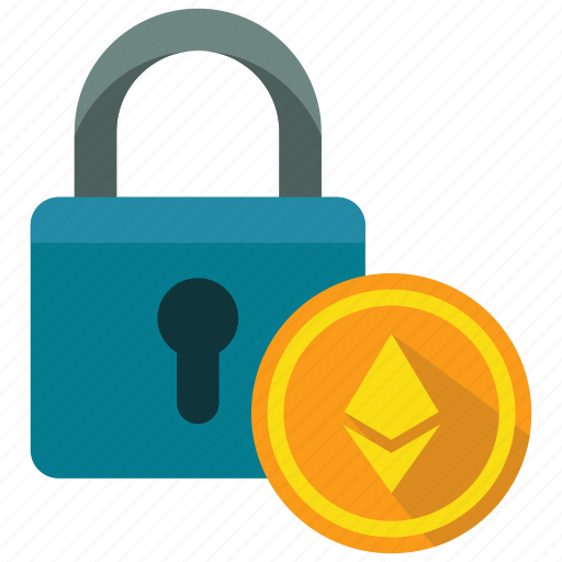 ethereum, lock, protection, secure icon