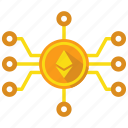blockchain, cryptocurrency, ethereum, mine icon