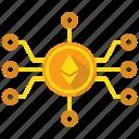 ethereum, mine, blockchain, cryptocurrency