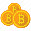 bitcoin, cryptocurrency, currency, digital icon
