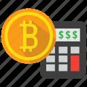 bitcoin, calculator, currency, finance icon