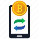 banking, bitcoin, crypto, mobile icon