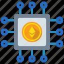 blockchain, cryptocurrency, ethereum icon