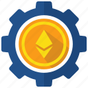 blockchain, cryptocurrency, ethereum, operation icon