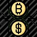 exchange, bitcoin, finances, money, currency