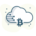 bitcoin cloud, bitcoin data icon