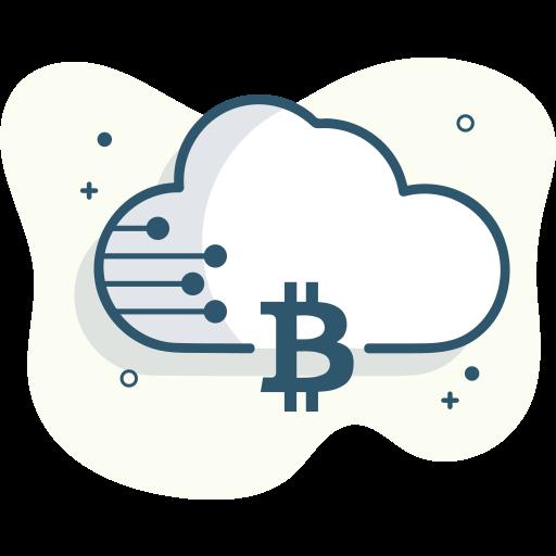bitcoin cloud, bitcoin data icon