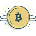 bitcoin, bitcoin chart icon