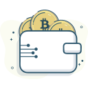 bitcoin wallet, wallet icon