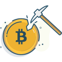 bitcoin, bitcoin mining, mine, mining icon