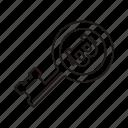 bitcoin, key, key icon icon