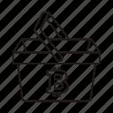bag, bitcoin, shop, store bag icon