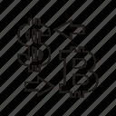 bitcoin, convert, dollar, money icon