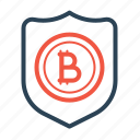 bitcoin, protection, secure, security, shield, transaction icon