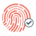 finger, password, print, protection, security, thumb, verification icon