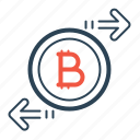 bitcoin, chain, currency, exchange, money, trade, transfer icon