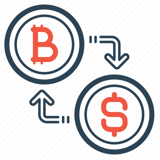 Bitcoin Conversion Convert Currency Dollar Exchange Transaction Icon