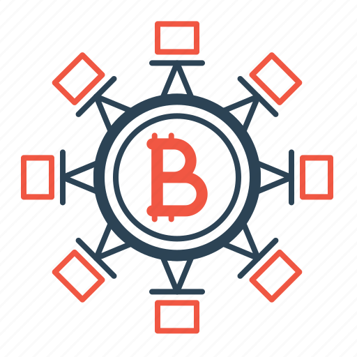 bitcoin, blockchain, connection, cryptocurrency, network, secure, transaction icon