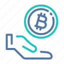 accepted, bitcoin, donating, donation, payment, tip, tipping icon
