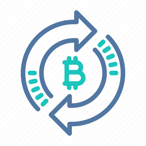 bitcoin, exchange, platform, processing, technology, transaction icon