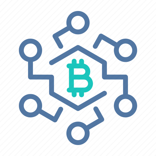 bitcoin, blockchain, crypto, infrastructure, network, technology, transactions icon
