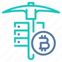bitcoin, computing, gpu, miner, mining, operation, rig icon