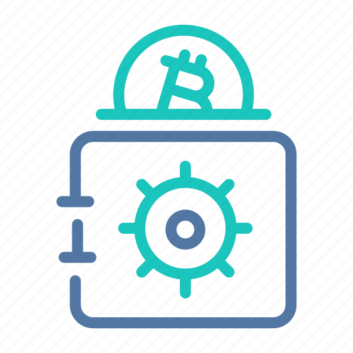 bitcoin, hard, hardware, safe, storage, vault, wallet icon