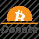 accept, bitcoin, contribute, contribution, donate, donation, tip icon