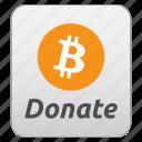 bitcoin, contribute, contribution, donate, donating, donation, tip icon