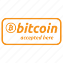 accept, accepted, bitcoin, partner, payment, pos, protocol icon