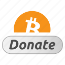 bitcoin, contribute, donate, donation, give, pay, tip icon