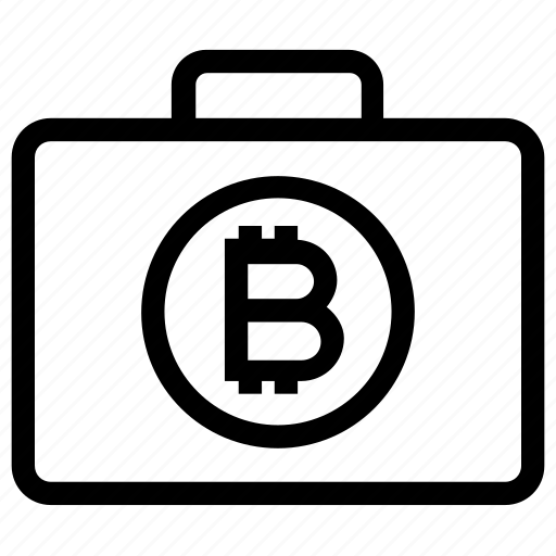 Bag, bitcoin, bitcoin related business, bitcoin related company, bitcoin related job, briefcase, cryptocurrency business icon - Download on Iconfinder